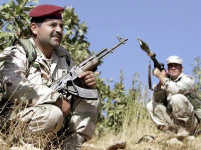 PKK-Kämpfer  im Kurdengebiet im Norden des Irak