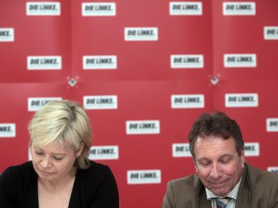 Gesine L�tzsch und Klaus Ernst