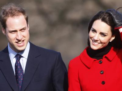 Prinz William und Kate Middleton beim Besuch der Universität in St. Andrews: «Enkelsohn mit großen Zähnen heiratet schmallippige Schrippe.» (Archiv)