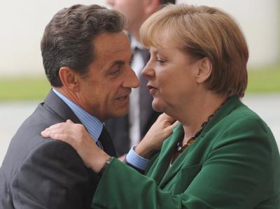 Nicolas Sarkozy und Angela Merkel