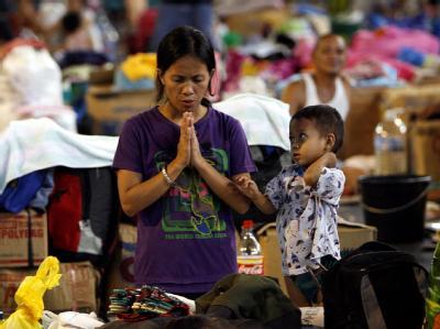 Taifun-Flüchtlinge