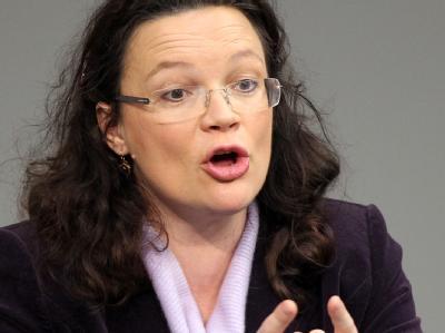 Die Generalsekretärin der SPD, Andrea Nahles, kritisiert die ukrainische Regierung. Foto: Wolfgang Kumm / Archiv