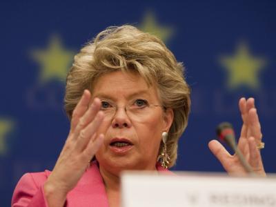 Die Vizepräsidentin der EU-Kommission, Viviane Reding.