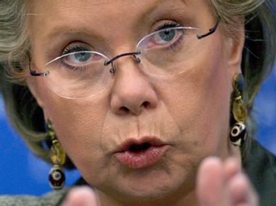 Die Vize-Präsidentin der EU-Kommission Viviane Reding. Foto: Christophe Karaba/Archiv
