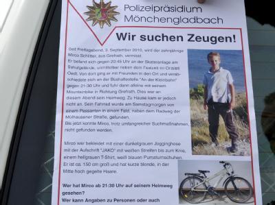 Mirco ist seit fast 100 Tagen verschwunden. Bislang sind bei der Sonderkommission 7700 Hinweise aus der Bevölkerung eingegangen.