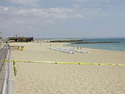 Die Polizei hat nach den Bombenanschlägen ein Strandstück auf Mallorca abgesperrt.