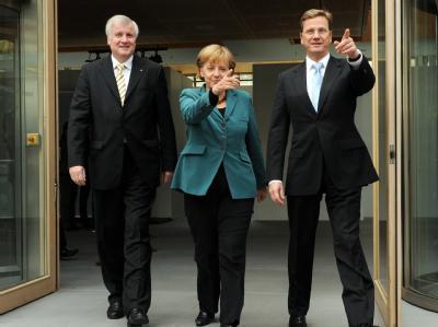 Seehofer, Merkel und Westerwelle