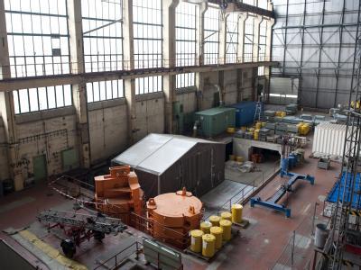 Die zurückgebaute Reaktoranlage des Kernkraftwerkes in Rheinsberg (Brandenburg).