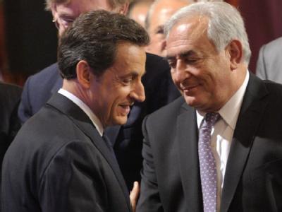 Sarkozy und Strauss-Kahn
