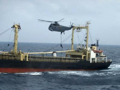 Bereits 2002 wurden auf diesem koreanischen Frachter Scud-Raketen und andere Waffen entdeckt (Archiv).