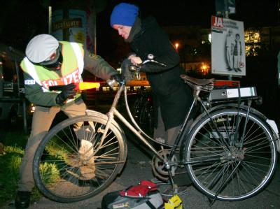 Licht an Fahrrädern
