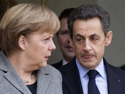 Angela Merkel droht im Ringen um mehr Finanzdisziplin mit Nicolas Sarkozy ihren wichtigsten Verbündeten zu verlieren. Foto: Ian Langsdon / Archiv