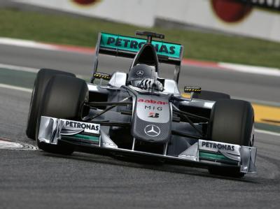 Computergrafik des Mercedes Grand Prix Formel-1-Rennwagens für die Saison 2010.
