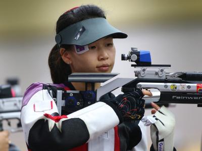 Die Chinesin Siling Yi sicherte sich die erste Goldmedaille dieser Spiele. Foto: Geoff Caddick