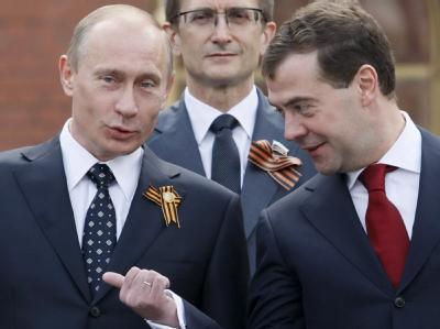 Wladimir Putin und Dmitri Medwedew