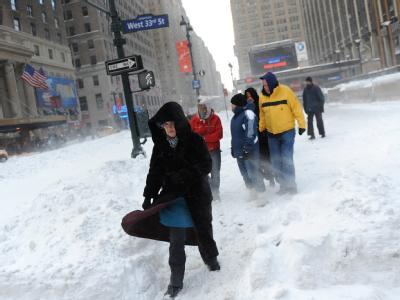 Zuletzt war die US-Ostküste wie hier in New York am 27. Dezember im Schnee versunken.