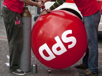 Laut einer Umfrage hat sich die SPD leicht verbessert. (Symbolbild)