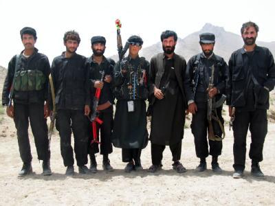 Angehörige einer afghanischen Miliz in Kandahar (Foto vom 4.8.2004).