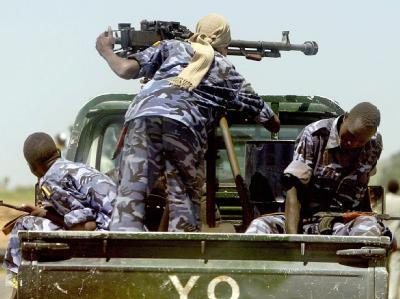 Sudanesische Spezialkräfte patrouillieren in Darfur. (Archivbild)