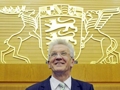 Winfried Kretschmann gehörte schon der ersten grünen Parlamentsgruppe an, die 1980 ins Stuttgarter Parlament einzog.