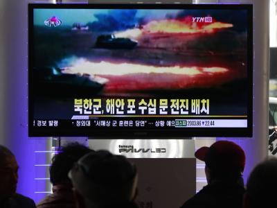 Bereits vor einigen Tagen hat das südkoreanische Militär an der umstrittenen Grenze nahe der umstrittenen Grenze zu Nordkorea Schießübungen durchgeführt.