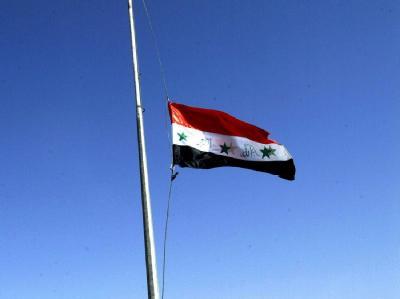 Syrische Flagge: In Damaskus ist ein Bus mit Pilgern aus dem Iran explodiert. (Symbolbild)
