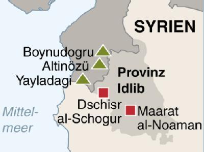 Bei der groß angelegten Militäraktion in der Provinz Idlib ist die syrische Armee in die Städte Dschisr al-Schogur und Maarat al-Noaman einmarschiert.