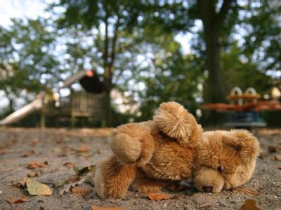 Einsamer Teddybär