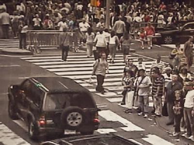 �berwachungsvideo vom Times Square