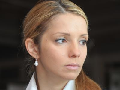 Julia Timoschenko sitzt in der Ukraine weiter im Gefängnis und hofft auf internationale Hilfe. Ihre Tochter Jewgenija kam deshalb erneut nach Berlin. Dort traf sie zwar die Justizministerin. Doch bis ins Kanzleramt konnte sie nicht vorstoßen. Foto: Michae