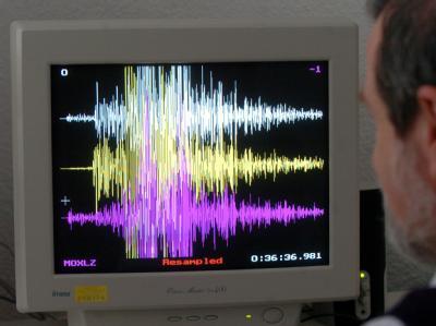 Seismogramm des Erdbebens vom 26.12.2004 in Asien: Ein Seebeben mit einer Stärke von 7,3 in der Region um Vanuatu hatte jetzt kurzzeitig Angst vor einem Tsunami ausgelöst.