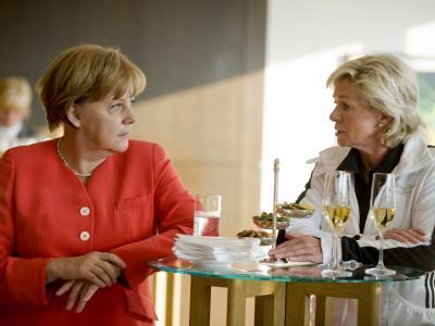 Angela Merkel und Silvia Neid