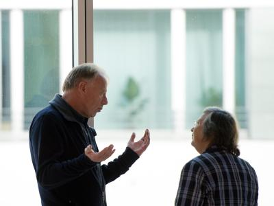 Die Grünen Jürgen Trittin und Bärbel Höhn sind der Meinung, dass die SPDauch mit den Linken reden sollte. Foto: Soeren Stache