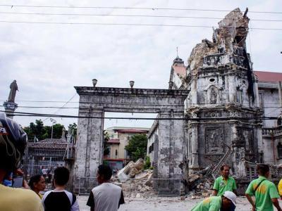 Ein heftiges Beben hat die Zentralphilippinen erschüttert. Foto:Romaldo Mico Solon