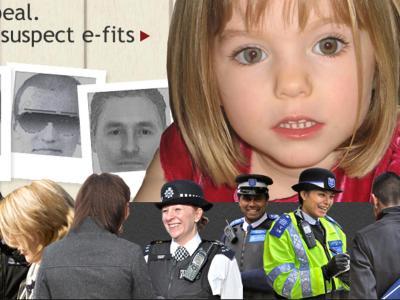 Große kleine Maddie: Der Screenshot zeigt die aktuelle Homepage der britischen Metropolitan Police. Foto: Metropolitan Police