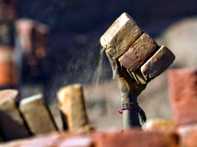 Indische Ziegelsteinfabrik