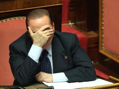 Der frühere italienische Regierungschefs Berlusconi während einer Sitzung des Senates. Foto: Alessandro Di Meo/Archiv