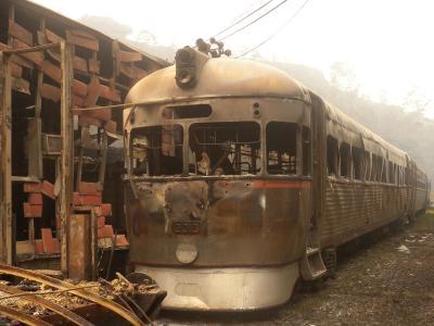 In den Blue Mountains haben die Flammen einen Zug zerstört.Foto: Zig Zag Railway