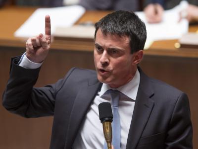 Frankreichs sozialistischer Innenminister Manuel Valls: «Nichts wird mich von meinem Kurs abbringen». Foto: Ian Langsdon/Archiv
