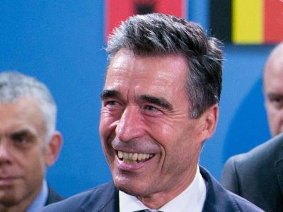 Nato-Generalsekretär Anders Fogh Rasmussen bei einem Treffen der Nato-Verteidigungsminister in Brüssel. Foto: Olivier Hoslet