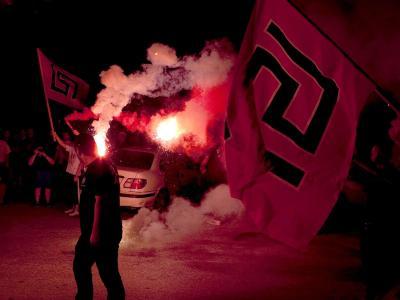 Die griechische Neonazi-Partei Goldene Morgenröte sieht sich als Opfer politischer Verfolgung. Foto: Str