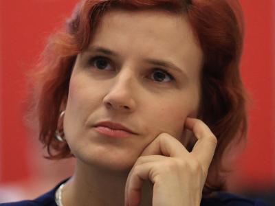 Katja Kipping Bundesvorsitzende der Partei Die Linke Foto: Jens Wolf/Archiv