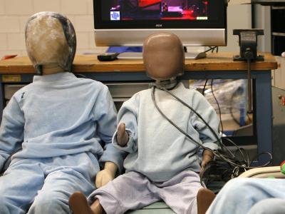 Die Kinder-Crash-Dummies haben einiges auszustehen. Foto: David Ebener