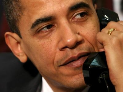Obama am Telefon