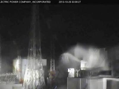 Screenshot einer Tepco-Webcam in Fukushima, kurz nach dem Beben am 25.10.2013. Foto:Tepco