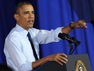 Barack Obama distanziert sich. Foto: Peter Foley