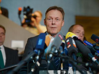 Ein Untersuchungsausschuss zur NSA-Affäre sei unvermeidlich, sagte Fraktionsgeschäftsführer Thomas Oppermann (SPD). Foto: Rainer Jensen/dpa