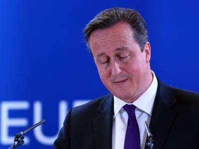 Der britische Premierminister David Cameron spricht auf dem EU-Gipfel in Brüssel. Foto: Julien Warnand/Archiv