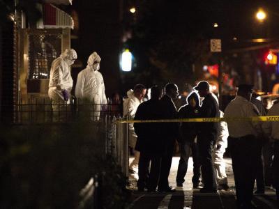 Noch in der Nacht nahm die Polizei einenVerdächtigen in Gewahrsam. Foto: Justin Lane