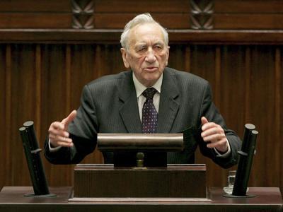 Der frühere polnische Ministerpräsident Tadeusz Mazowiecki starb im Alter von 86 Jahren. Foto. Bartlomiej Zborowski Foto: Bartlomiej Zborowski